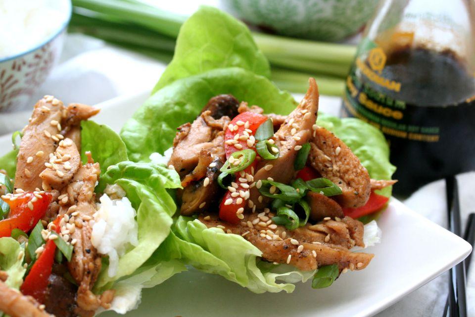 Weeknight Asian Chicken Lettuce Wraps