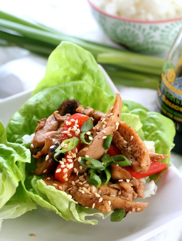 Weeknight Asian Chicken Lettuce Wraps