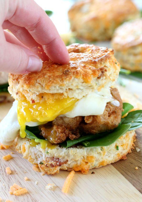 Fried Chicken Breakfast Sandwich
