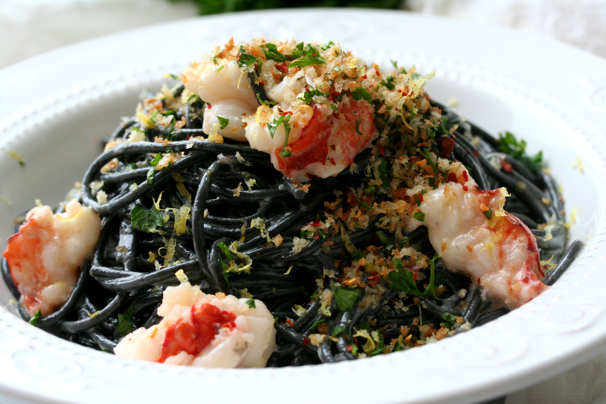 Squid Ink Pasta With Buttery Lobster Dash Of Savory Cook With Passion