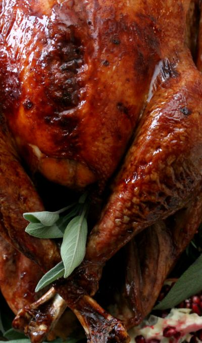 Pomegranate Glazed Roast Turkey