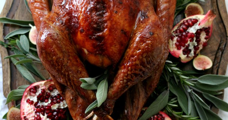 Pomegranate Glazed Roast Turkey
