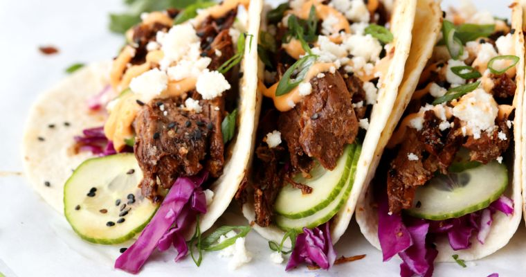 Asian Shredded Pork Tacos