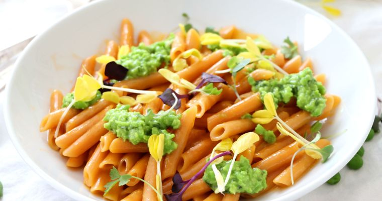 Pea Pesto Mac and Cheese