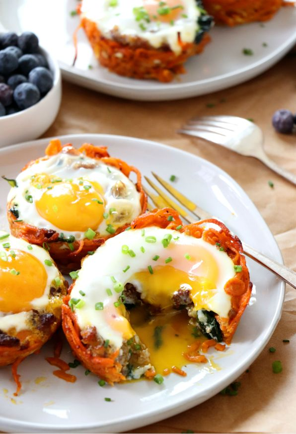 Sweet Potato Breakfast Nests