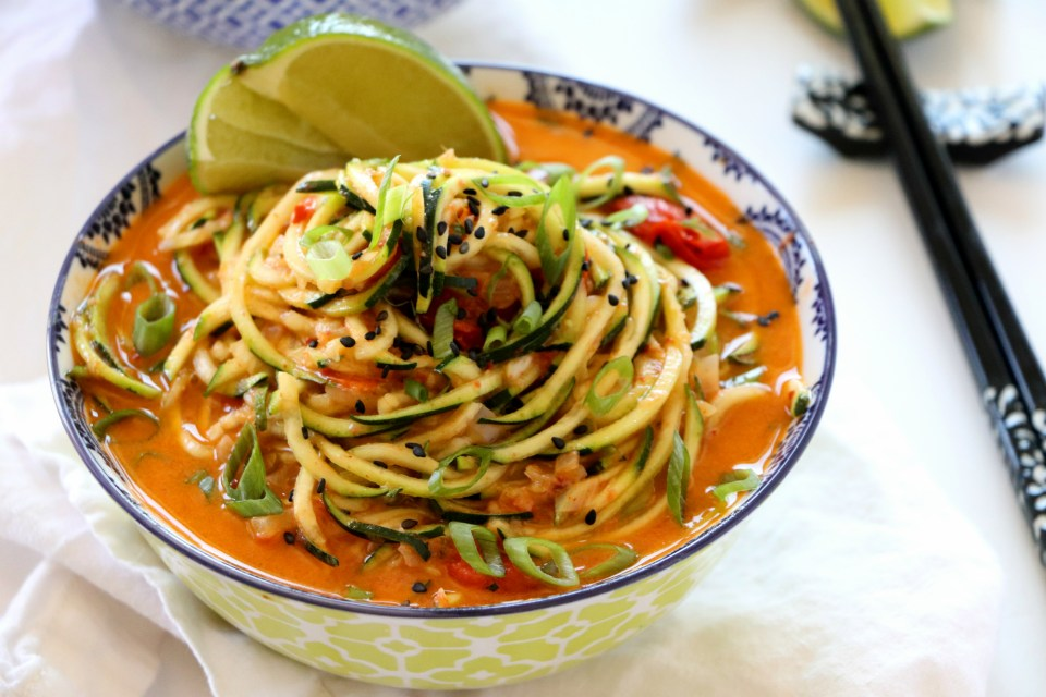 Coconut Red Curry Zucchini Noodles