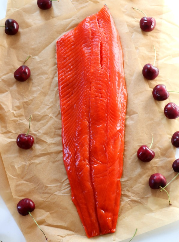 Alaskan Sockeye Salmon with Cherry Wine Sauce