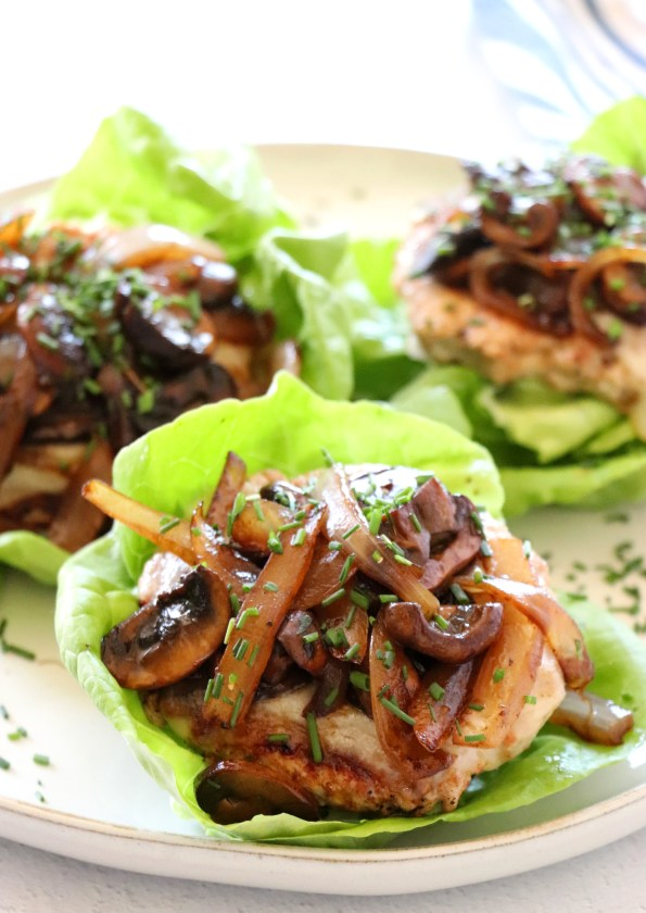 Turkey Mushroom Swiss Lettuce Wraps