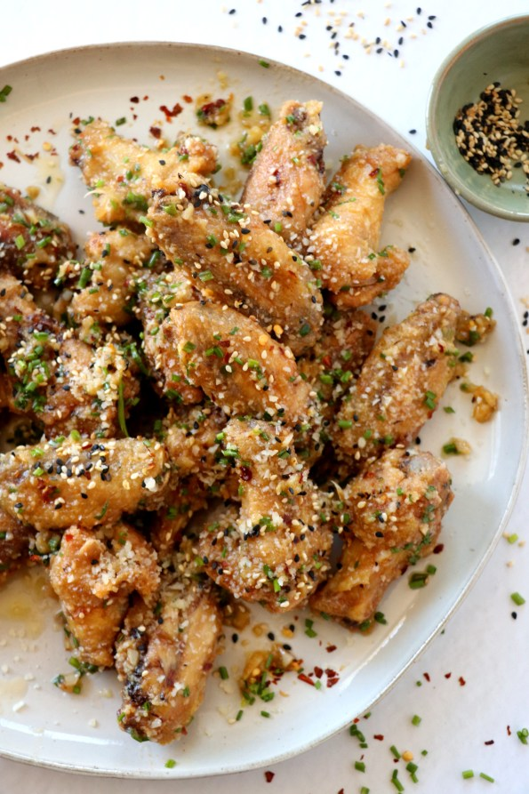 Asian Miso Garlic Parmesan Wings
