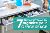 7 Free & Easy Ways to Organize your Office Space - Dash of ...