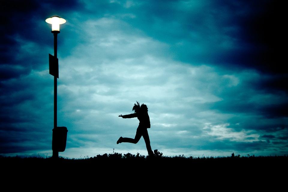girl jumping for joy