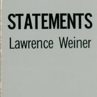 Künstlerbuch | Artists' book: Lawrence Weiner. Statements, 1968