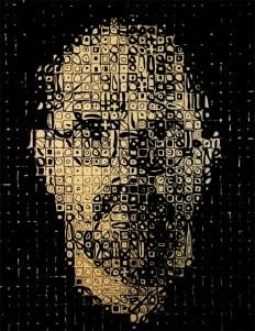 Chuck Close, Self-Portrait, 1999 100 x 80 cm, Reliefdruck auf Papier