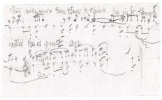 Manuscript from John Cage, arrangement of Erik Satie`s Socrate, 1944