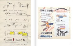 """Selection from the catalogue 'WRITTEN ON THE WIND. Lawrence Weiner Drawings"""", pages 28 and 29"""