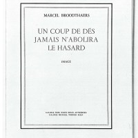 Künstlerbuch | Artists' book: Marcel Broodthaers. UN COUP DE DÉS JAMAIS N'ABOLIRA LE HASARD. Image, 1969