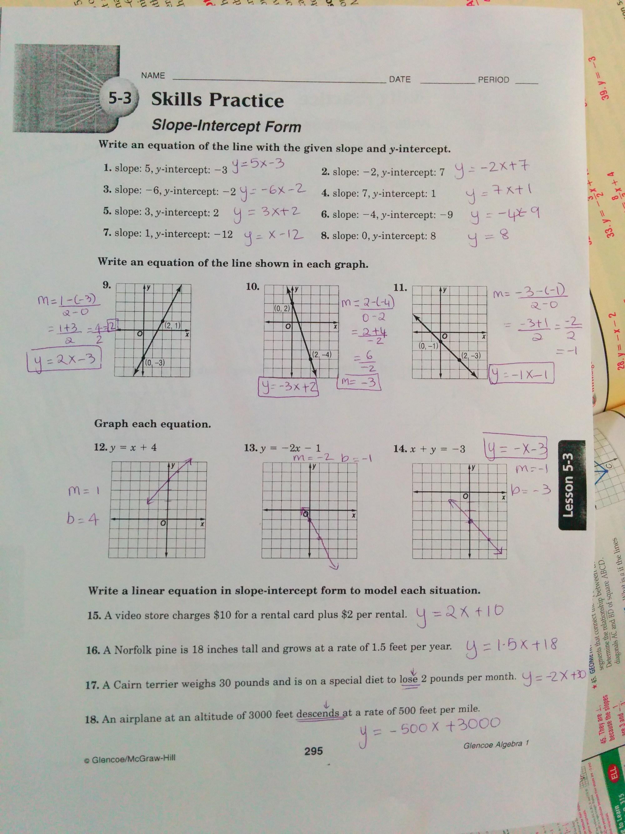 hight resolution of Grade 9: Chpt 5 H.W + 5.3 Worksheet Solutions   DASMAN - MATH