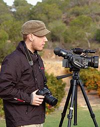 David Nienhaus bei der Arbeit in Alicante