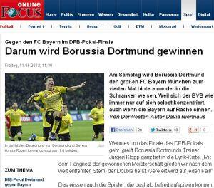 Der Kommentar zum Pokalfinale von David Nienhaus bei Focus online