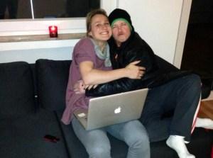 Fabian Hambüchen und Britta Heidemann nach dem erfolgreich absolvierten Twinterview mit DerWesten. Foto: Twitter