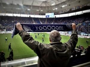 Gerechtfertigter Optimismus eines Hoffenheim-Fans vor der Partie gegen Gladbach. Foto: David Nienhaus