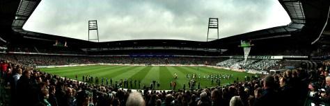 Borussia Mönchengladbach gewinnt im Weser-Stadion beim SV Werder Bremen. Foto: David Nienhaus
