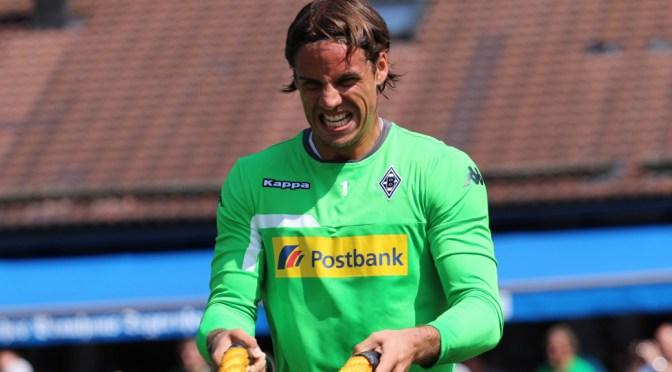 Borussia Mönchengladbachs Torwart Yann Sommer trainiert am Tegernsee mit Ropes. Foto: David Nienhaus
