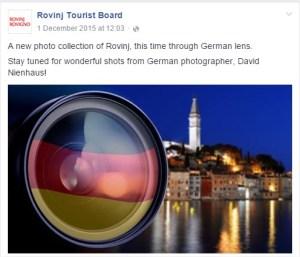 Rovinj Tourist Board veröffentlich zwei Wochen meine Fotos.