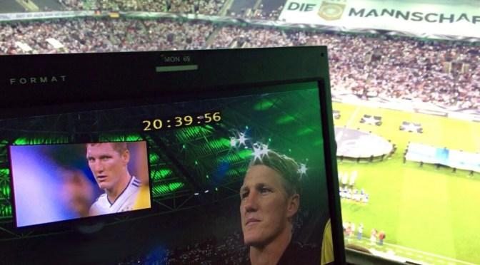 ServusBasti - Abschiedsspiel von Bastian Schweinsteiger aus dem DFB-Team bei Deutschland gegen Finnland. Foto: David Nienhaus