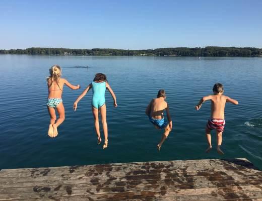 Sprung ins Wasser
