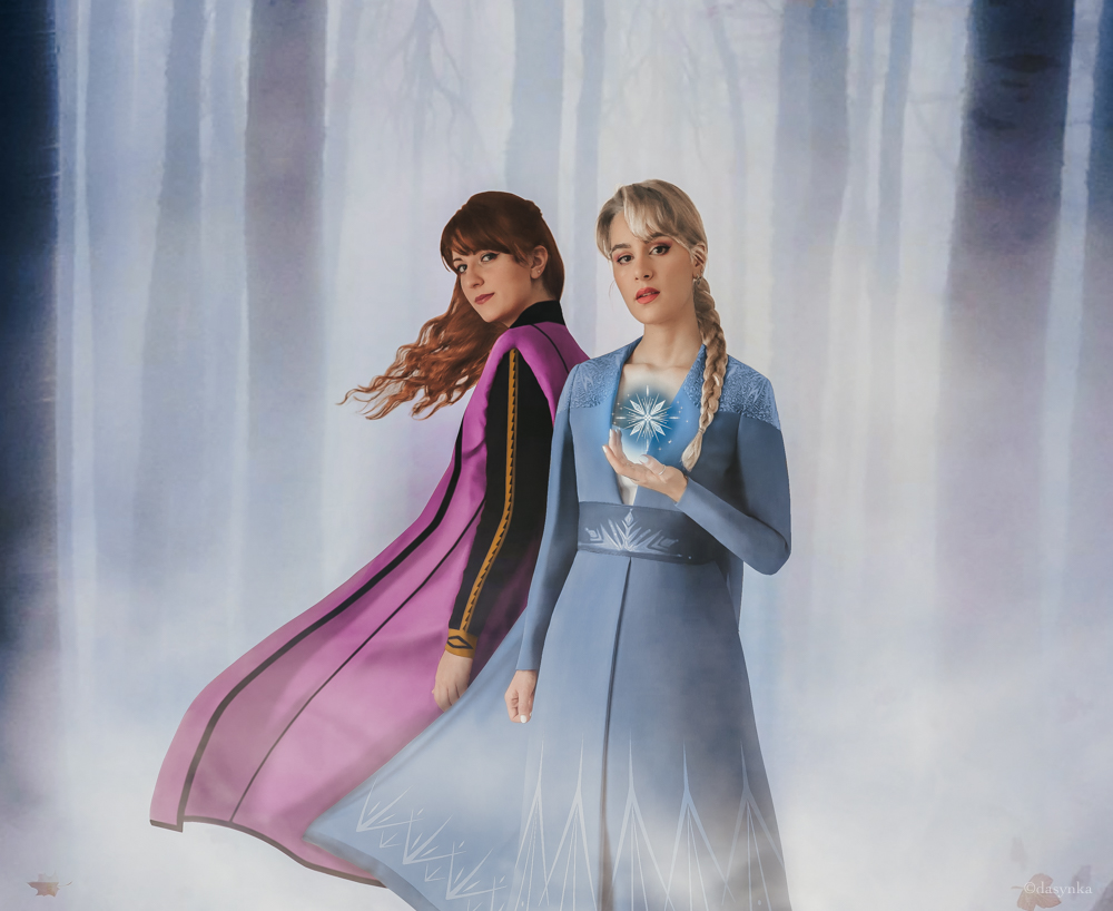 dasynka-fashion-blogger-blog-cosplay-cosplayer-disney-disneyland-make-up-costume-ideas-party-costumes-frozen-II-2-elsa-anna-olaf-forest-ahtohallan-enchanted-forest-mattias-photoshop-art-digital-before-after-photomontage