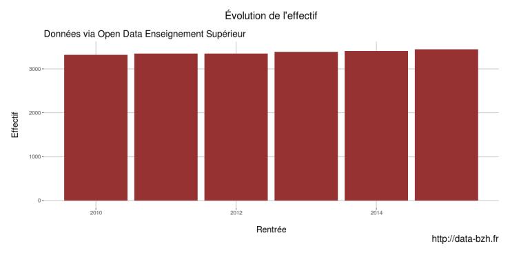 Evolution de l'effectif