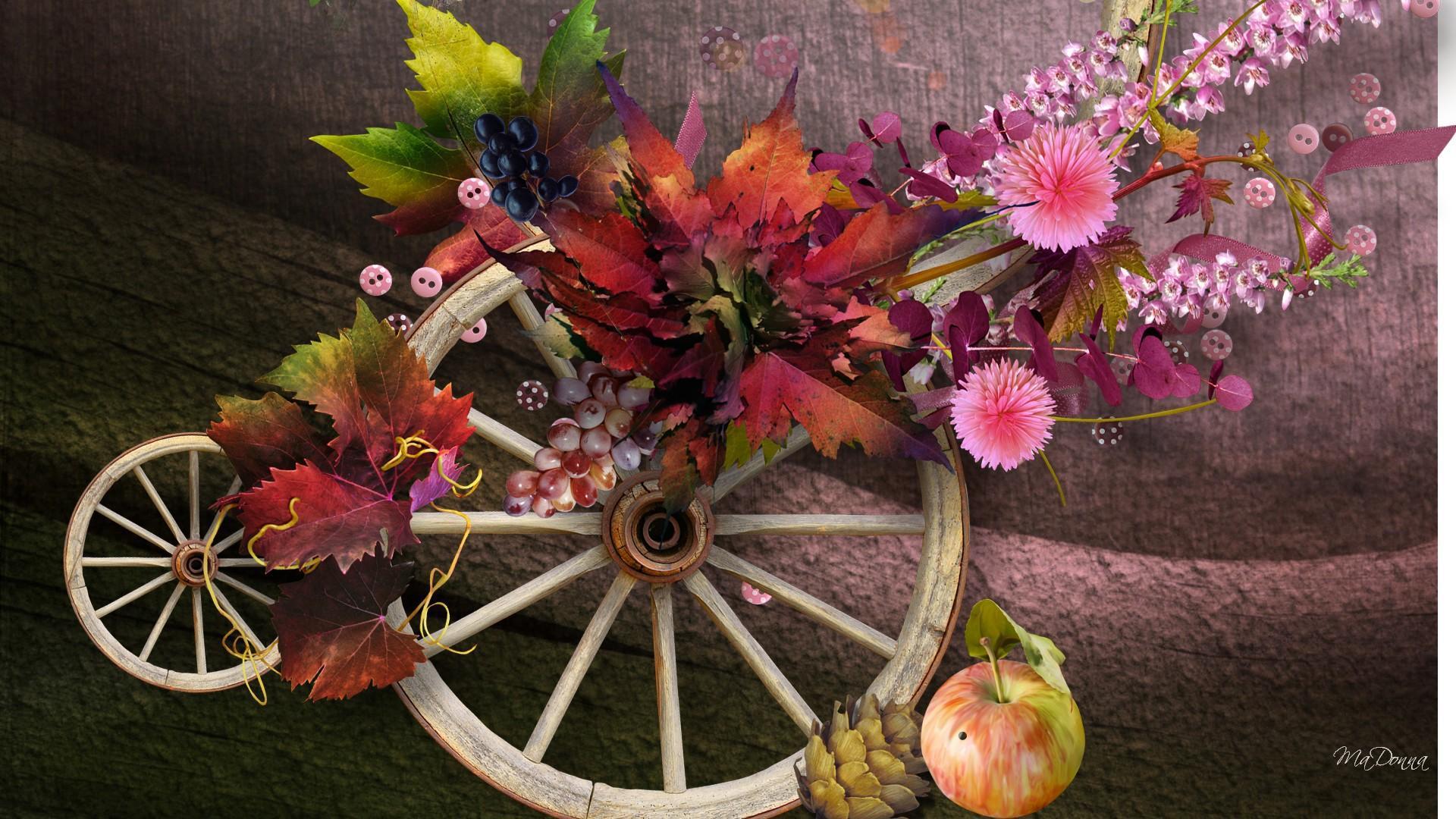 Fall Pumpkin Wallpaper Desktop Autumn Wheels Hd Desktop Wallpaper Widescreen High