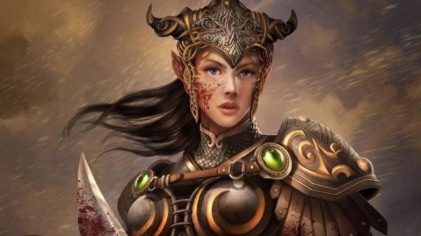 Bloody Female Warrior Hd Desktop Wallpaper Widescreen