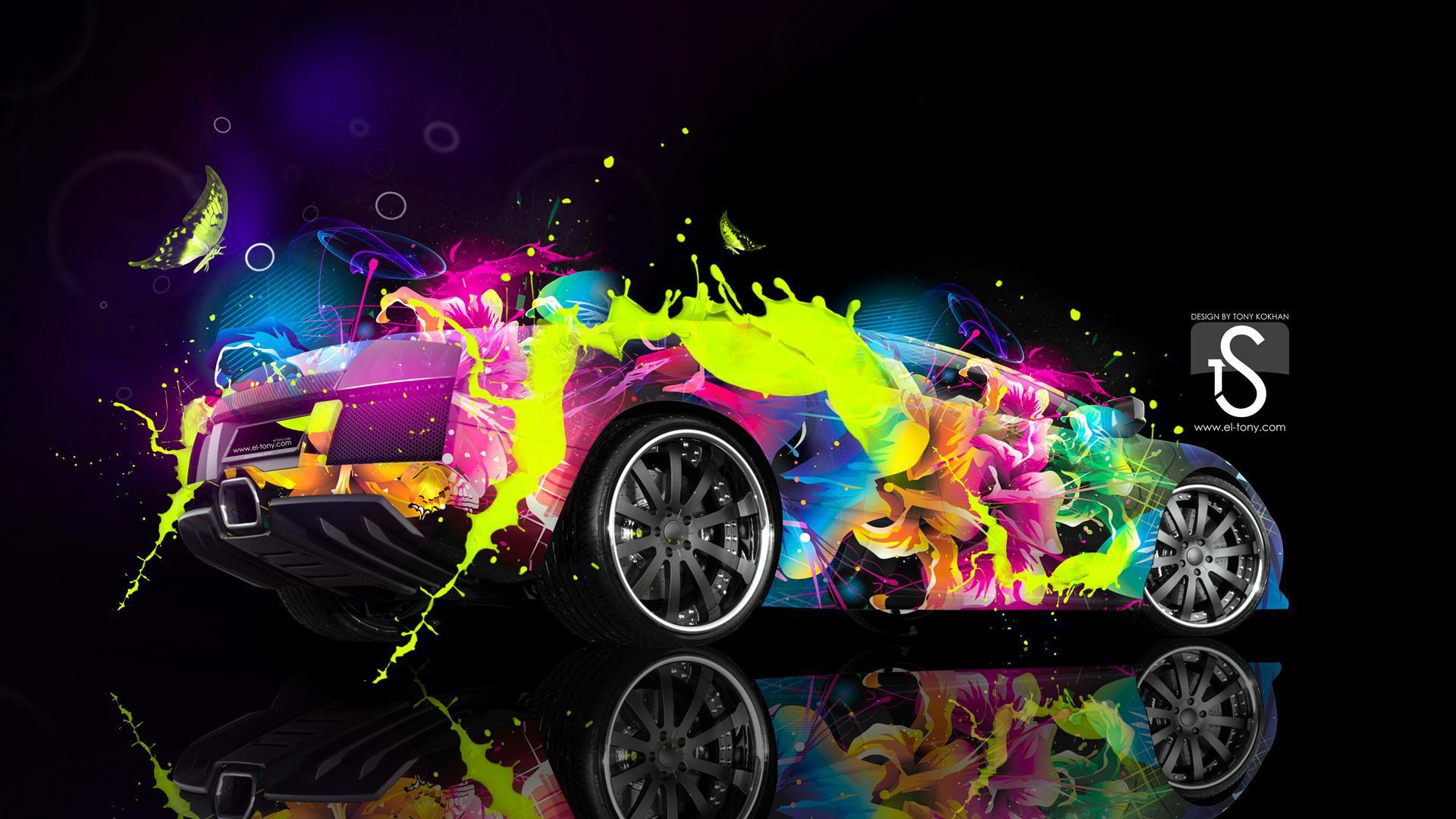Car Wallpapers Opst Bunte Lambo Hd Desktop Hintergrund Widescreen High