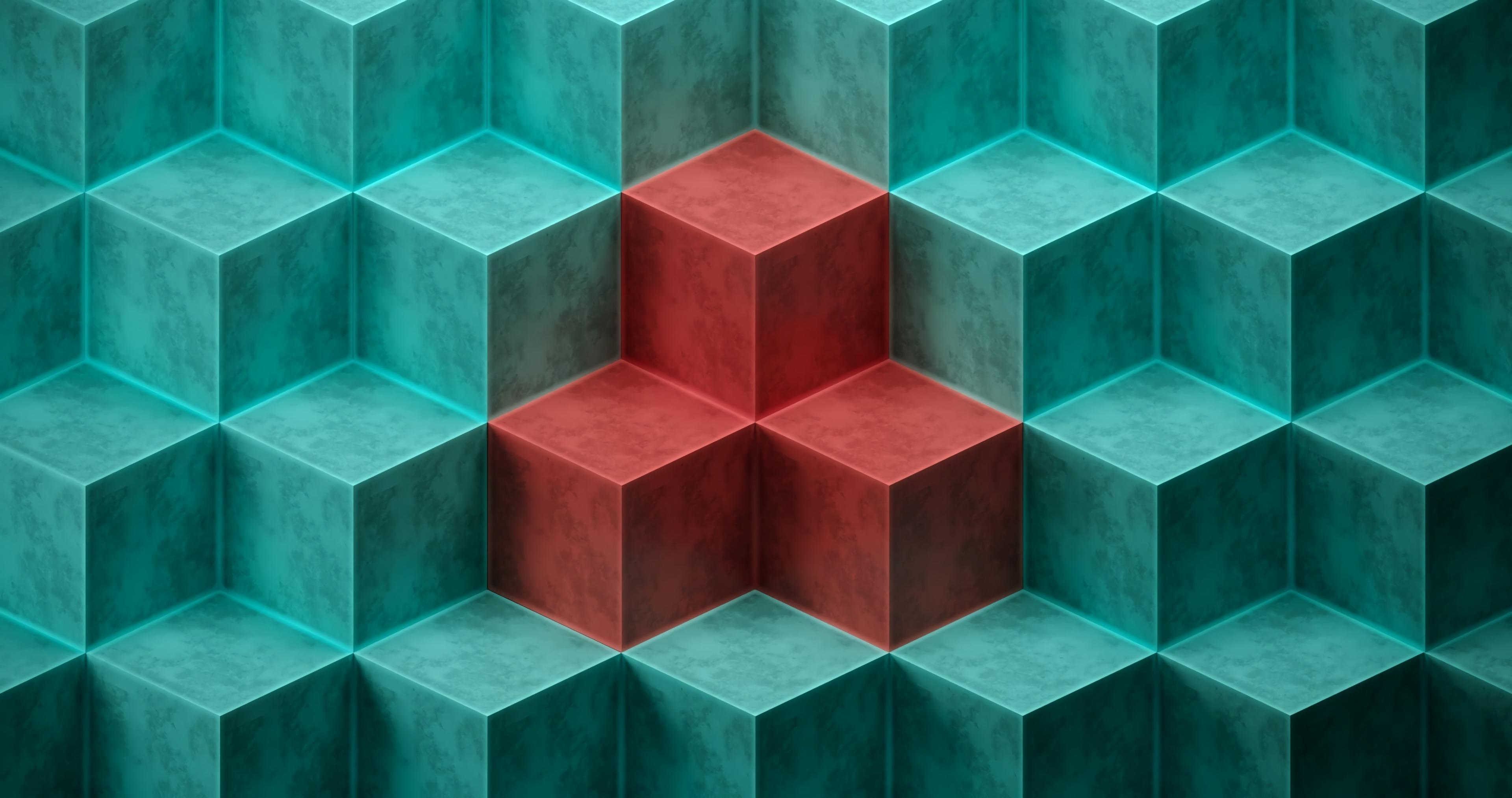 cube cubes formes relief hd