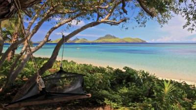 Hammock on Beach Fiji HD desktop wallpaper : Widescreen ...