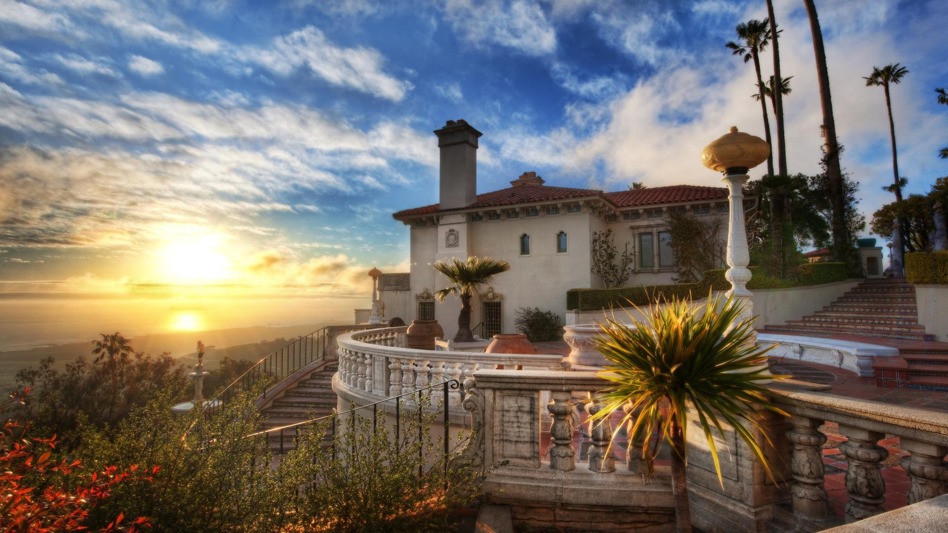 wallpaper Hearst Castle, California, USA HD : Widescreen : High Definition : Fullscreen