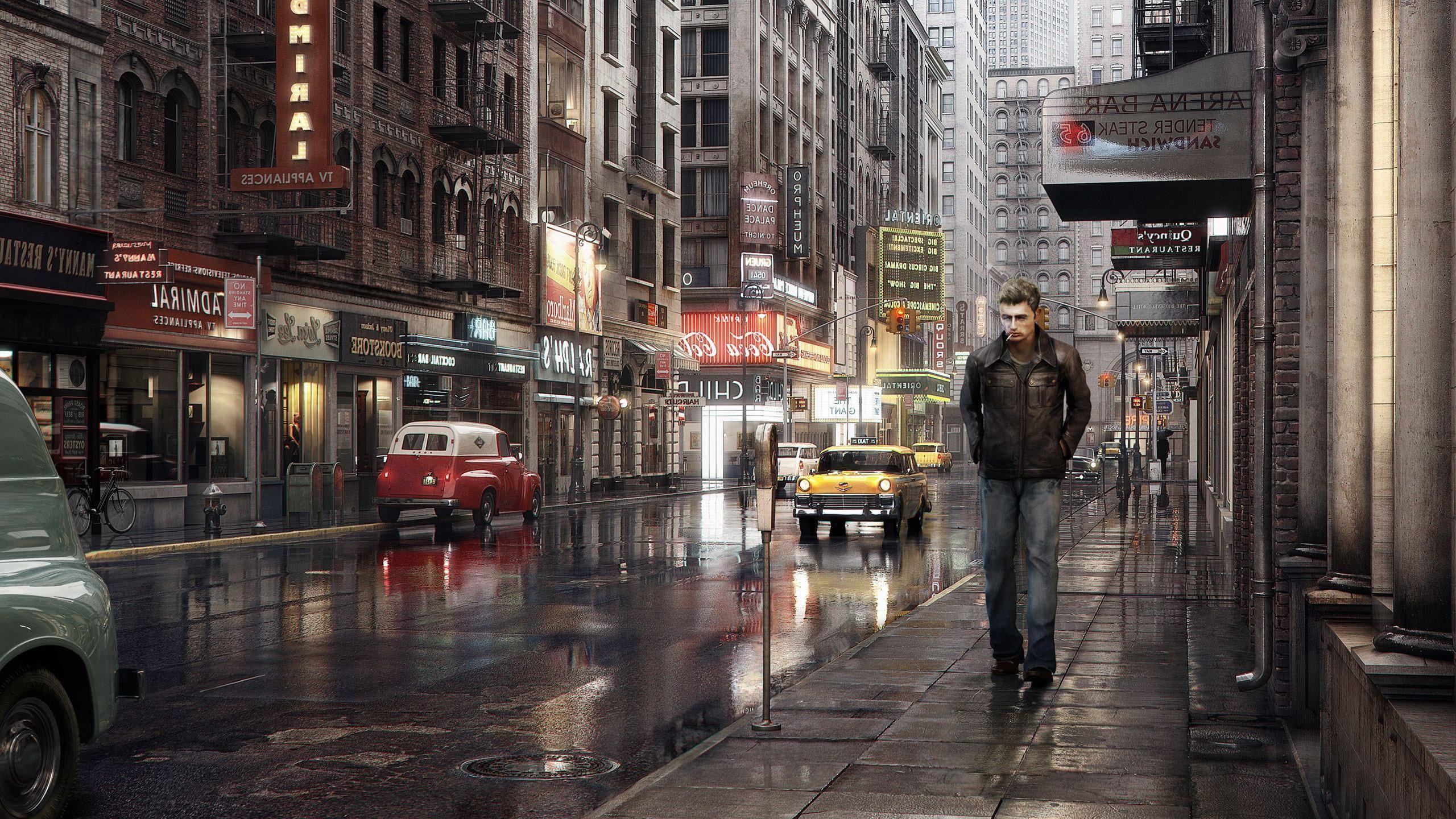 Girl Walking Alone Hd Wallpapers Lonely Man In The City Hd Desktop Wallpaper Widescreen