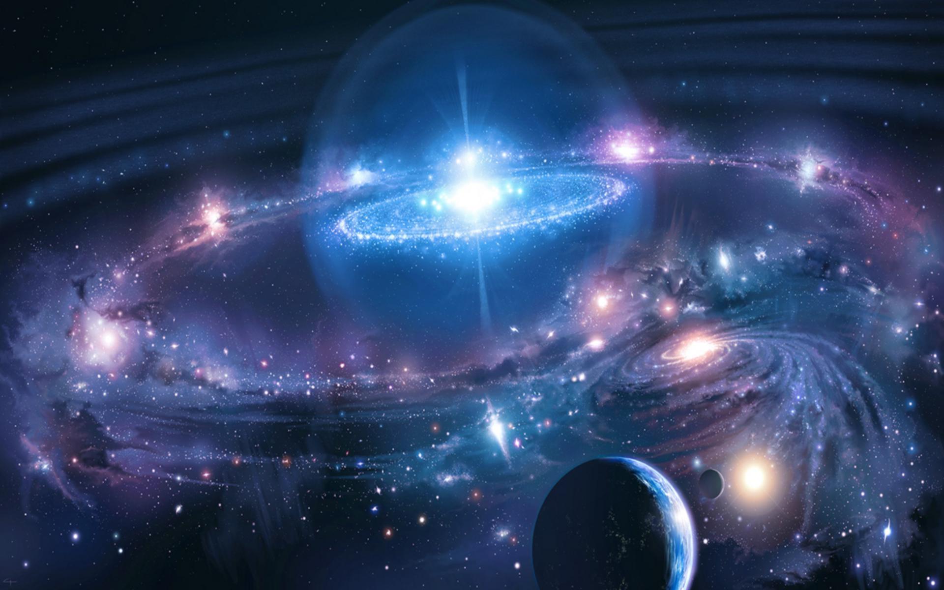 bintang luar angkasa galaksi planet gambar background hd
