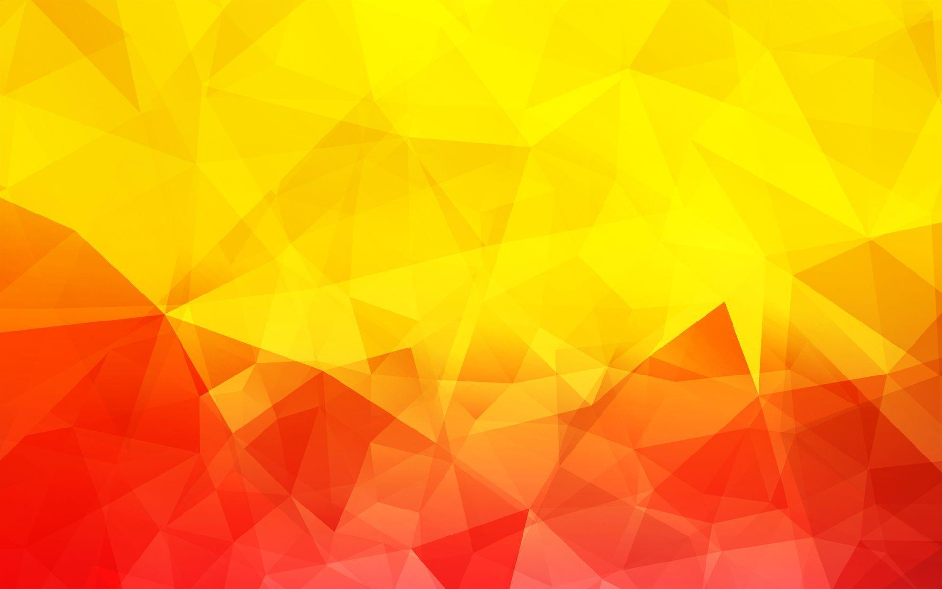 Red and yellow triangles HD desktop wallpaper  Widescreen