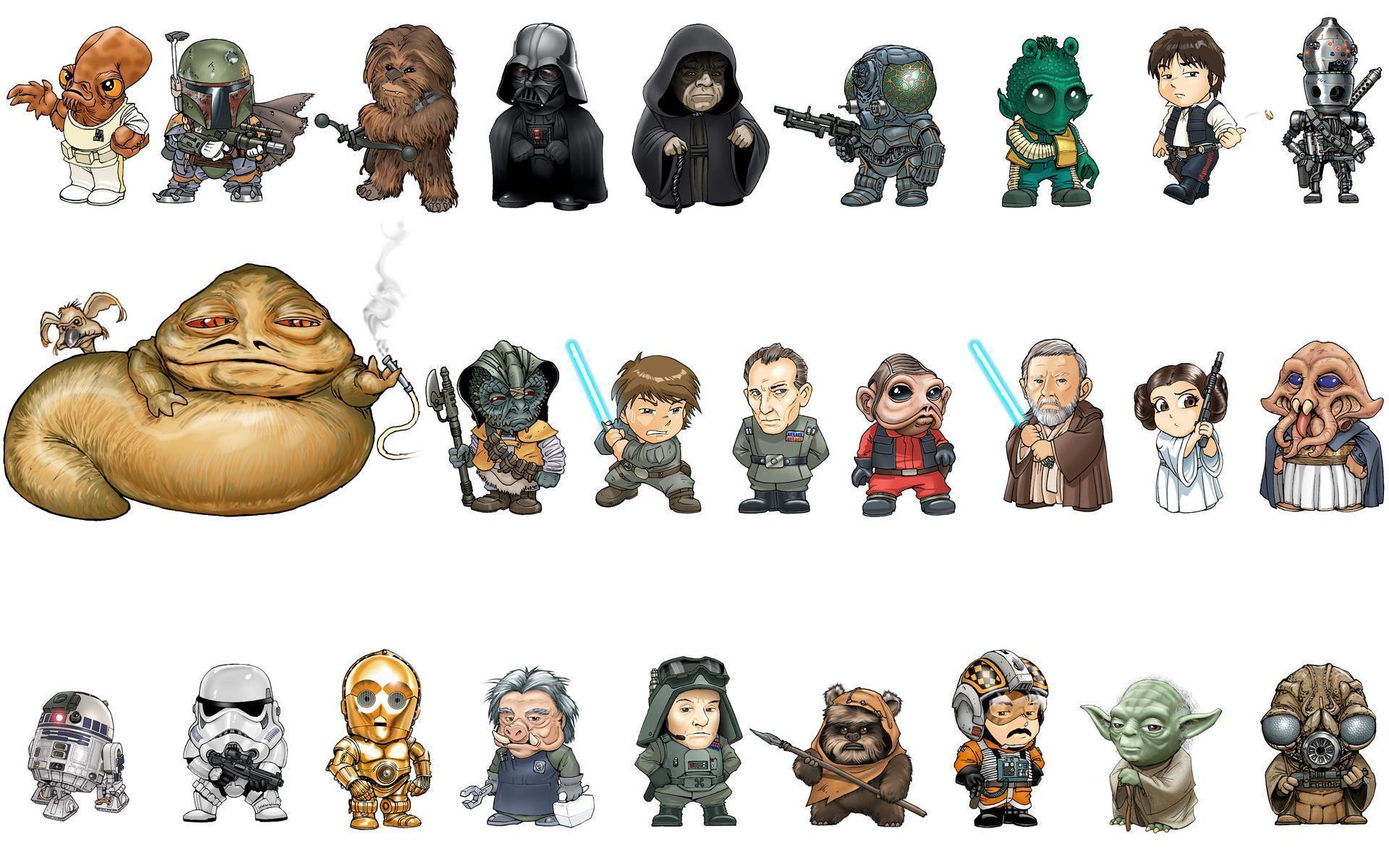 Star Wars Characters Hd Desktop Wallpaper Widescreen