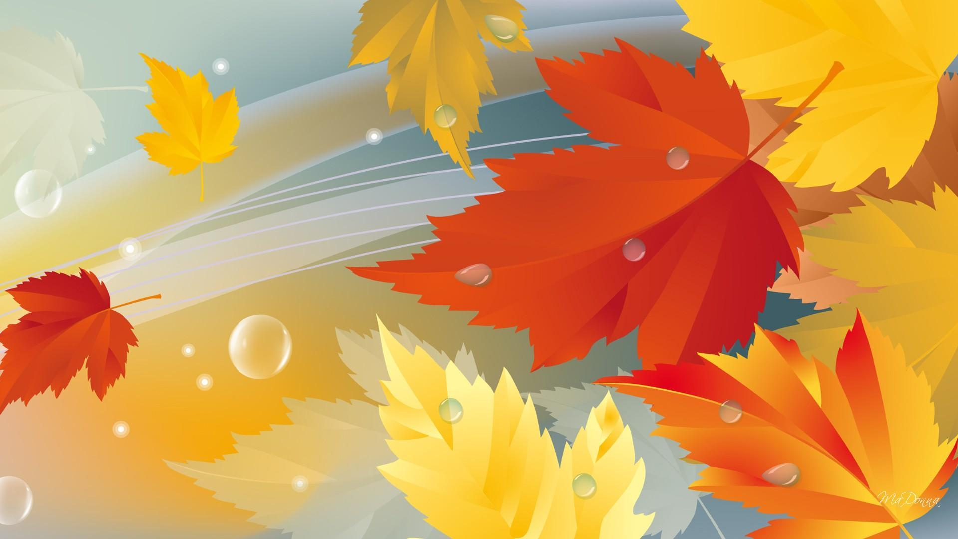 Animated Falling Leaves Wallpaper The Wind Blows Hd Desktop Wallpaper Widescreen High