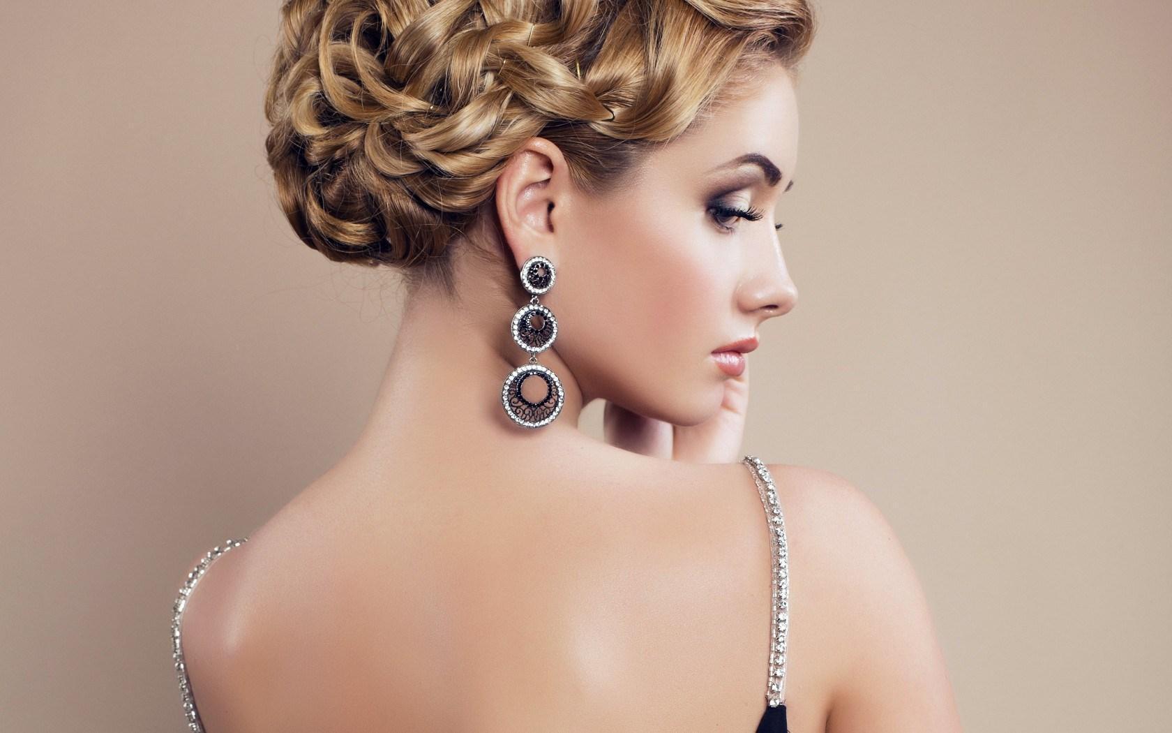 femme boucles d'oreilles bijoux de maquillage HD papier