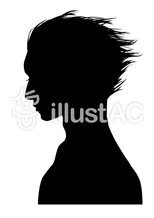 男性側面輪廓剪影 | 免費的剪貼畫 | illustAC