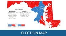 Maryland County Map Voting Election 2016