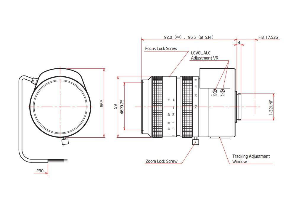 ViewZ VZ-B6X8MAI4 1/2 inch Manual Zoom w Video Auto-IRIS 8