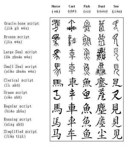 Evolution Of The Chinese Script: The History And