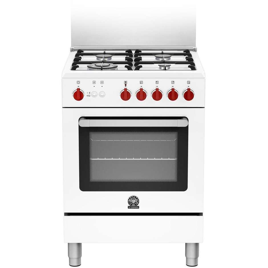 La Germania RI64C71CW cucina 60x60 4 fuochi a gas forno a gas classe A 56 litri bianco  Cucine