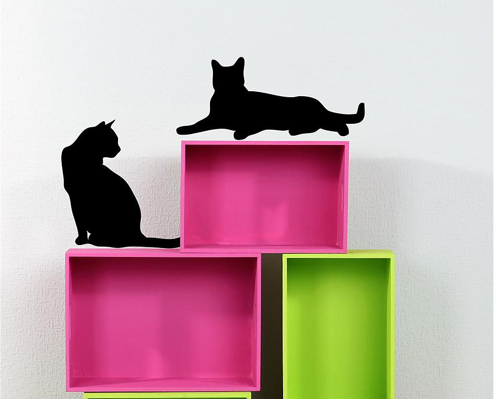 sagoma gatti decorazione adesiva murale